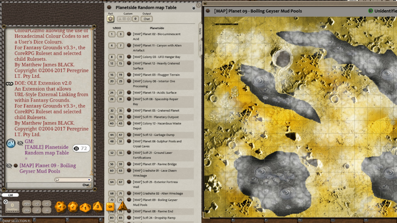 Fantasy Grounds - Meanders Map Pack: Planetside (Map Pack) screenshot