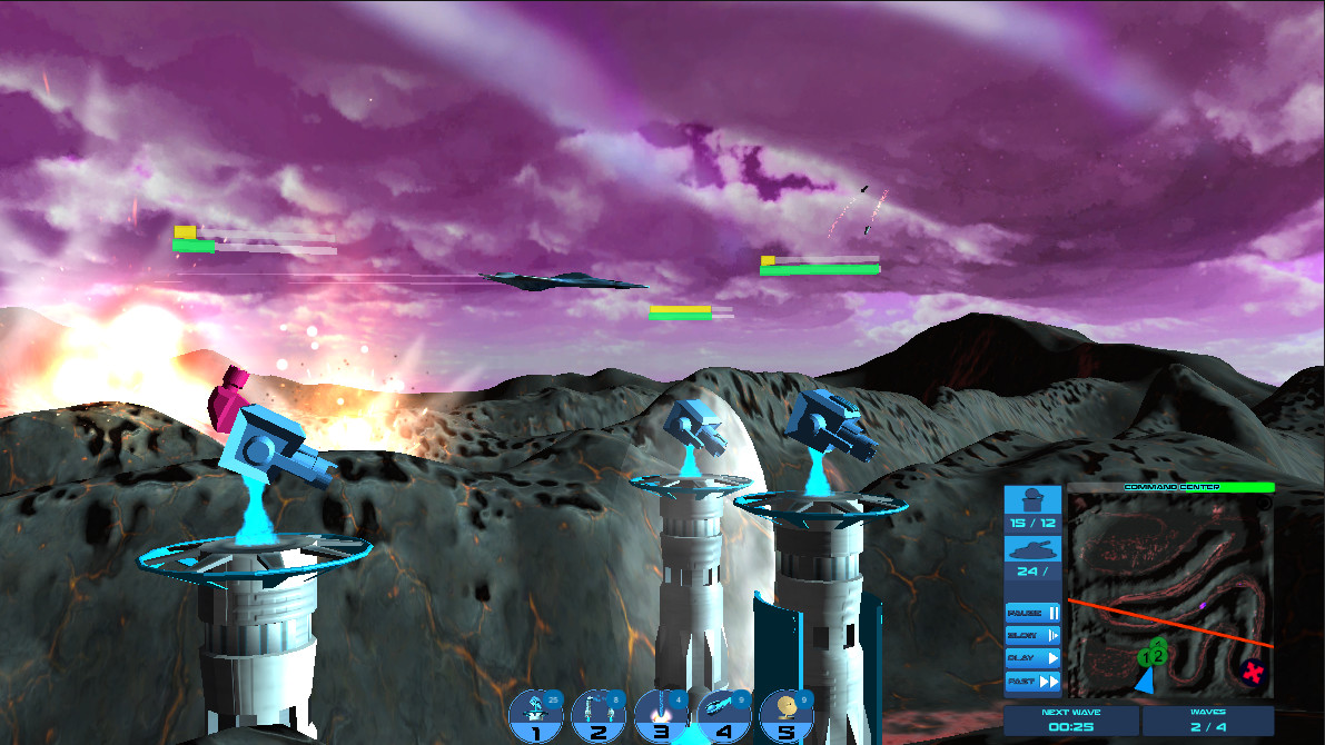Galactic Tower Defense screenshot