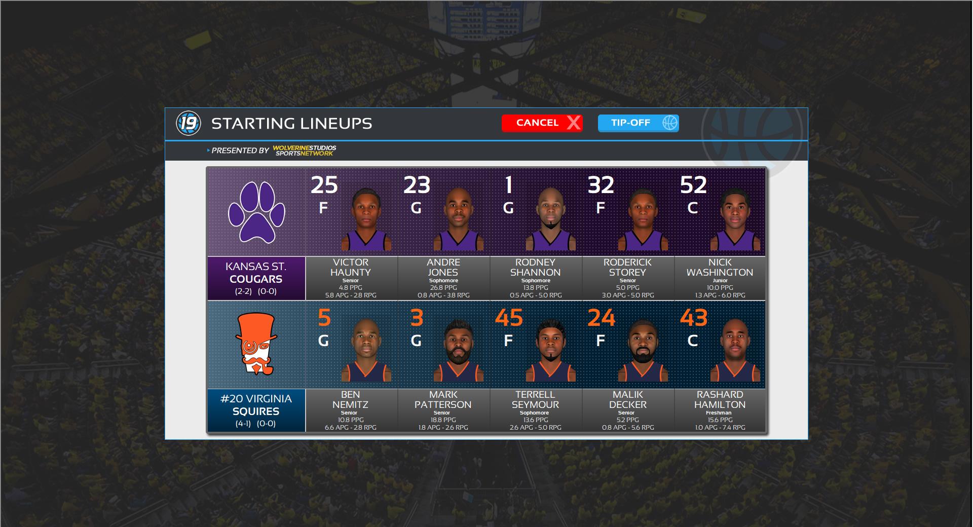 Draft Day Sports: College Basketball 2019 screenshot
