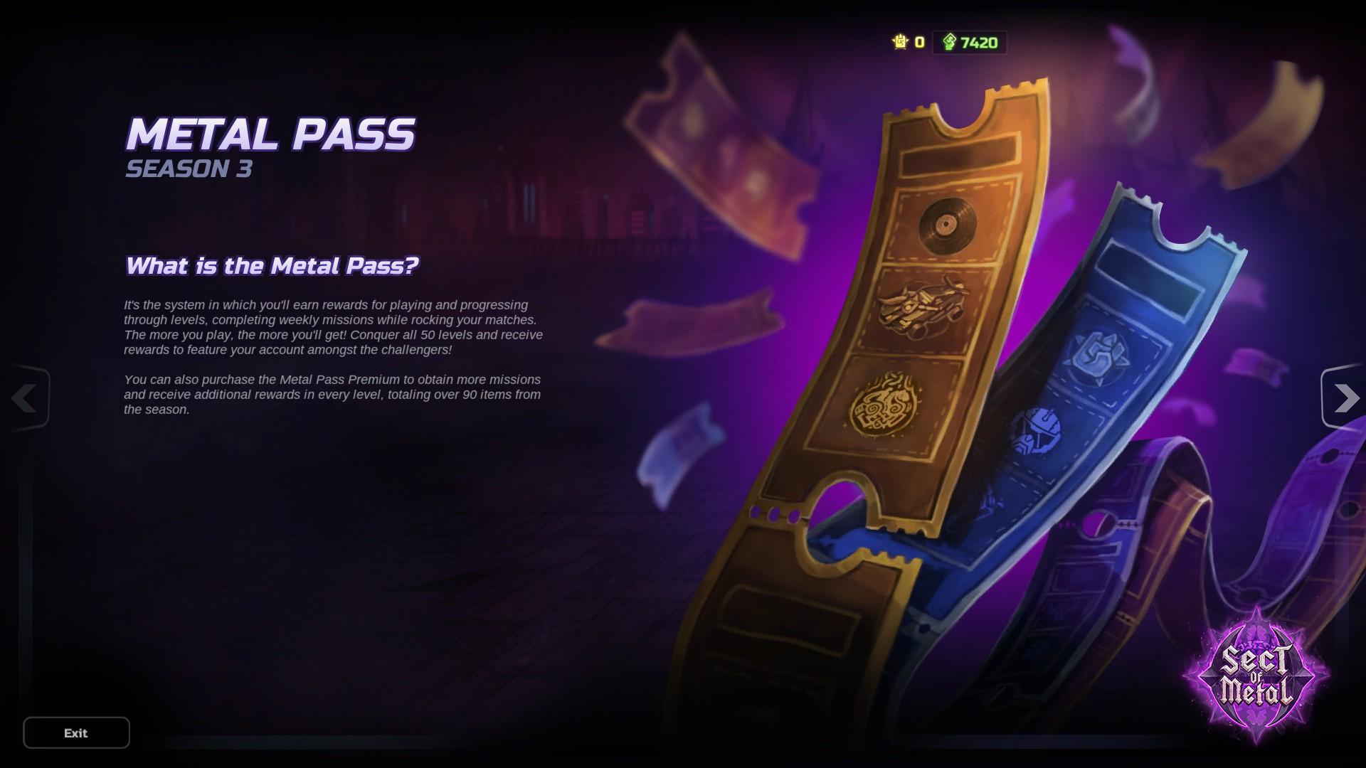 HMM Metal Pass Premium Season 3 + 1300 Cash screenshot