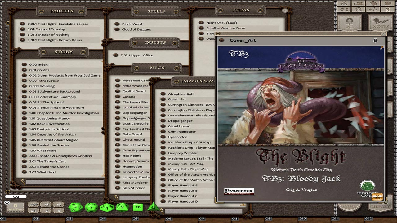 Fantasy Grounds - The Blight: Bloody Jack (5E) screenshot