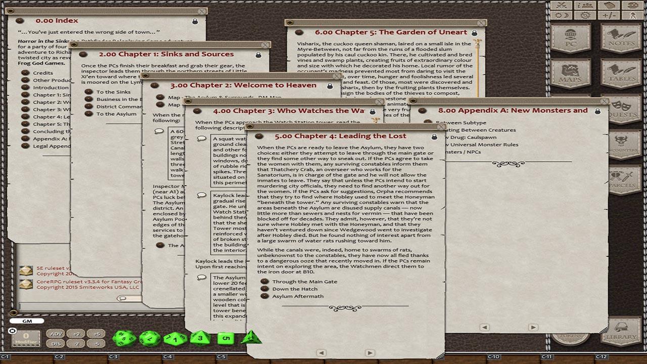 Fantasy Grounds - The Blight: Horror in the Sinks (5E) screenshot