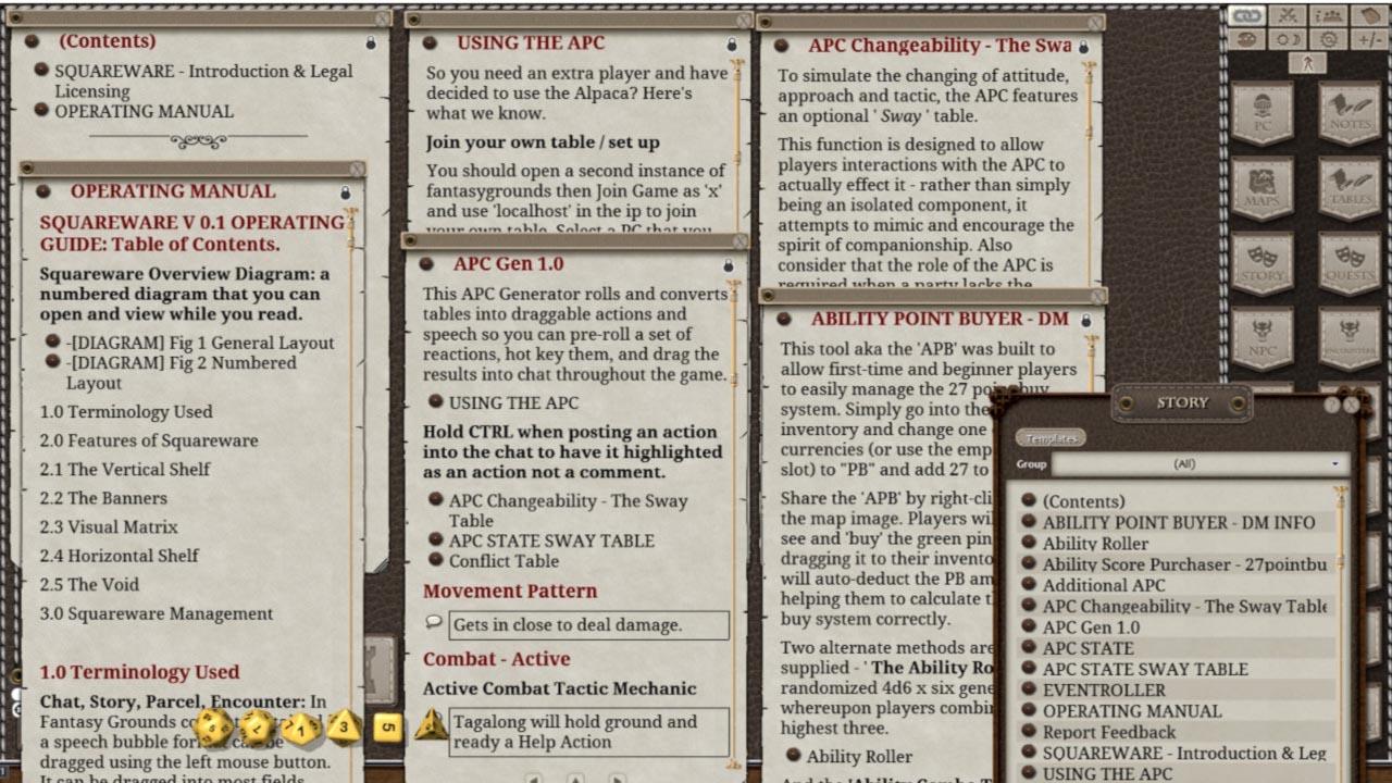 Fantasy Grounds - Squareware (5E) screenshot