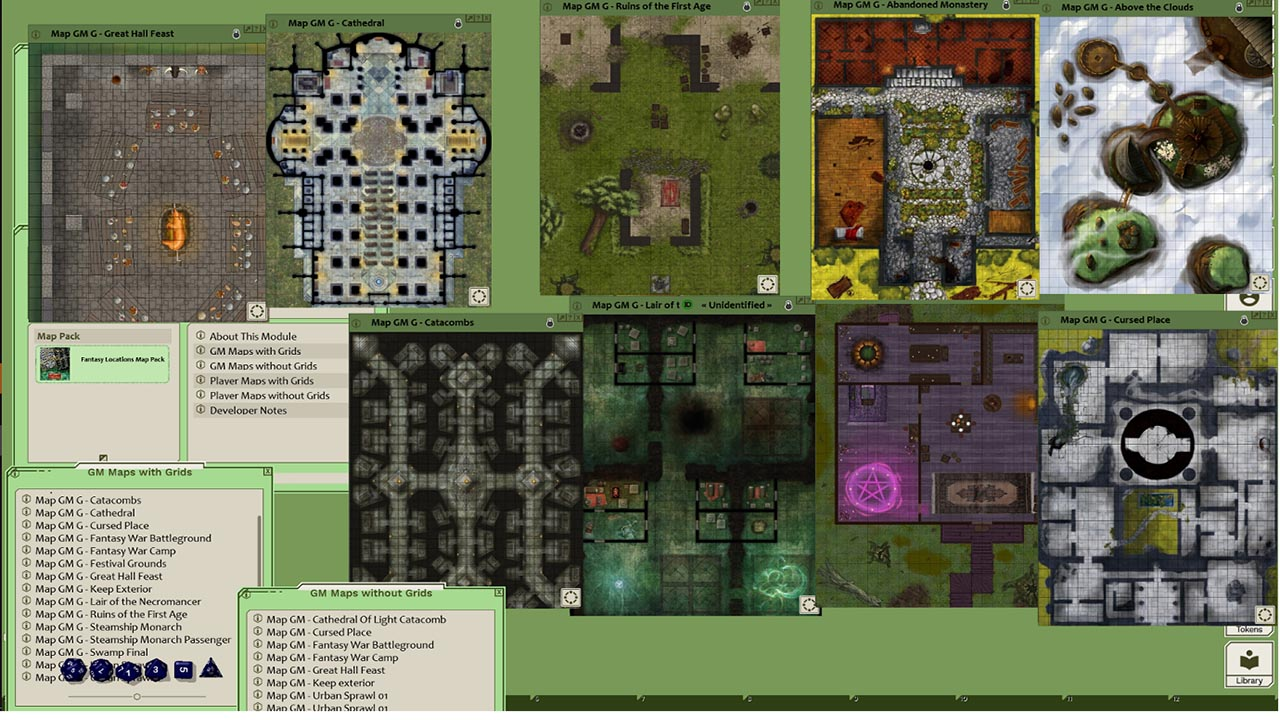 Fantasy Grounds - Map Pack Fantasy Locations (Map Pack) screenshot