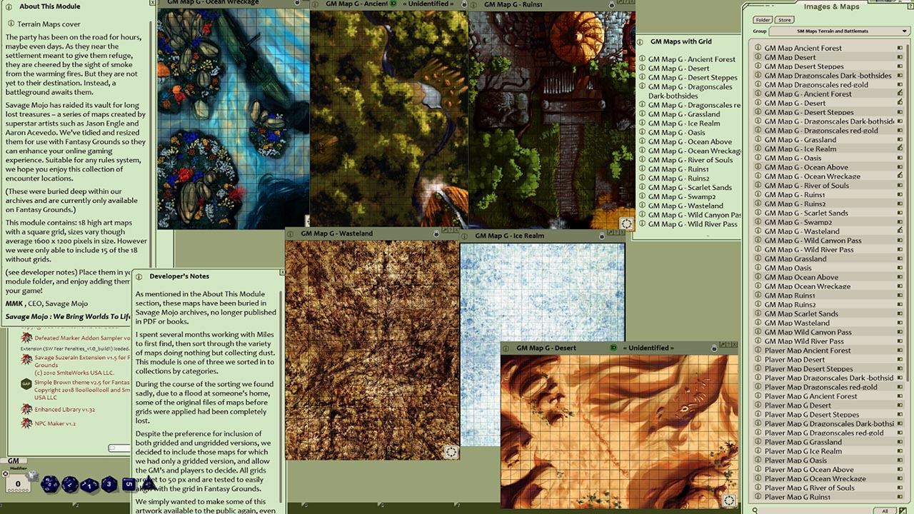 Fantasy Grounds - Map Pack Terrain and Battlemats (Map Pack) screenshot