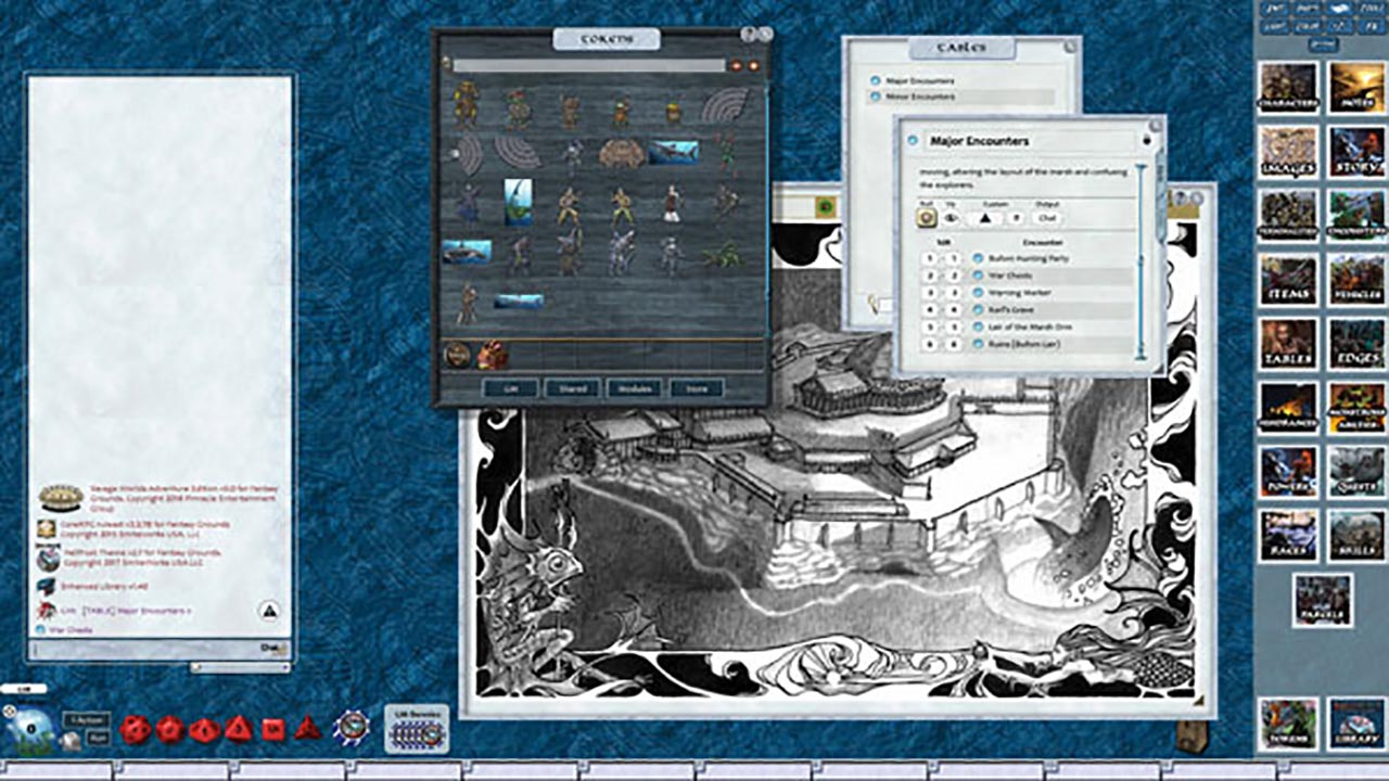Fantasy Grounds - Hellfrost: The Blood Tide (Savage Worlds) screenshot