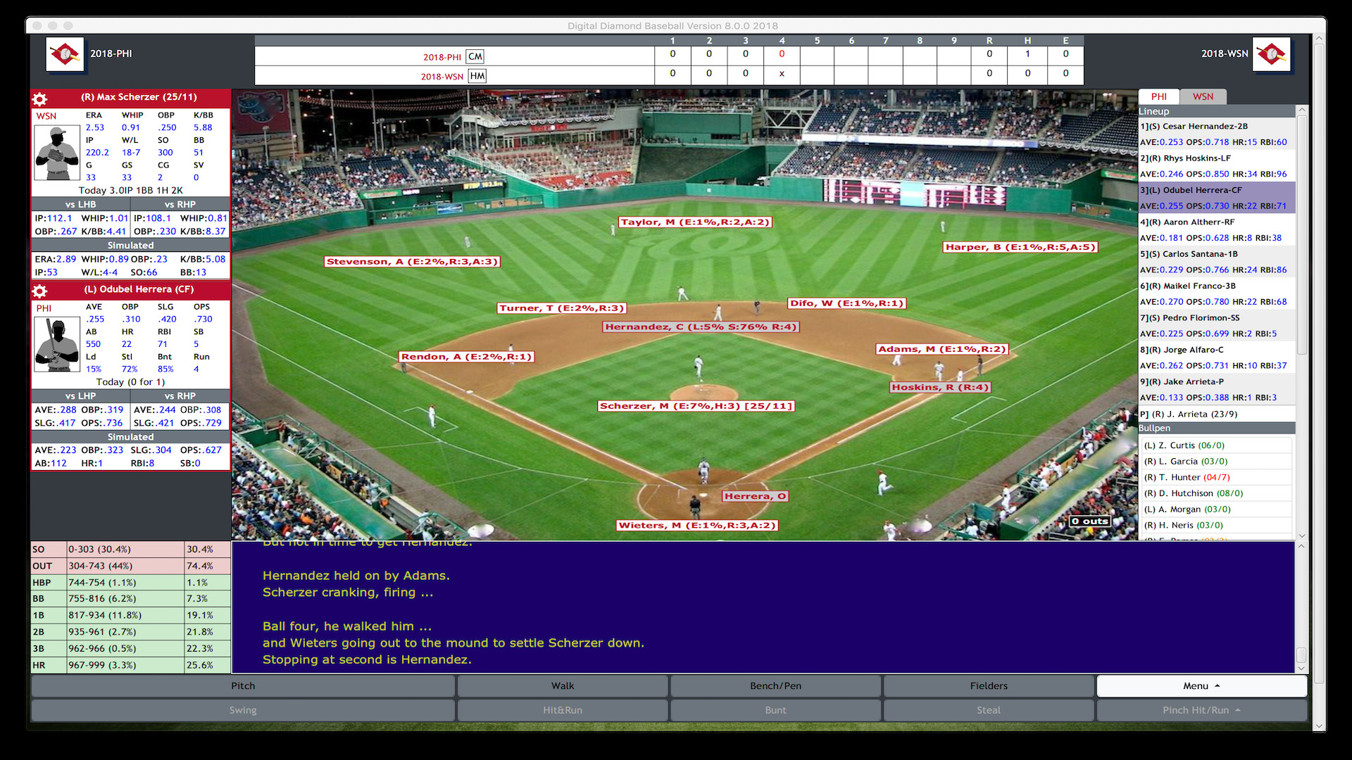 Digital Diamond Baseball V8 screenshot
