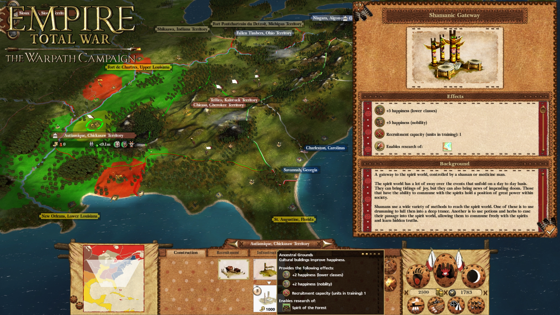 Empire: Total War - The Warpath Campaign screenshot