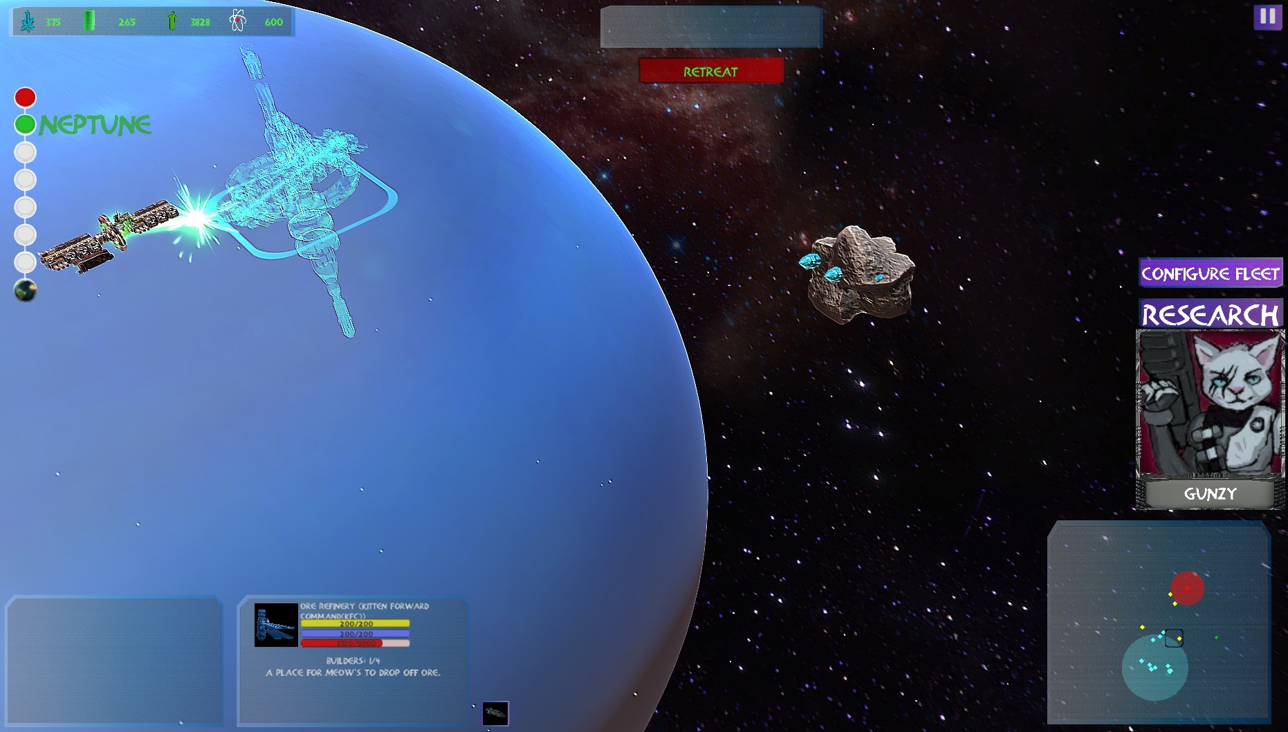 Grimalkin: Solar Defense Force screenshot