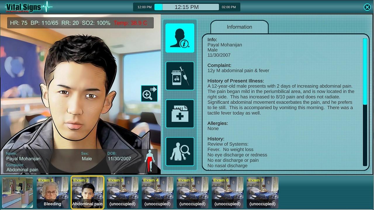 Vital Signs: Emergency Department screenshot