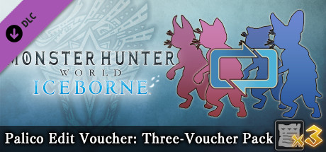 Monster Hunter: World - Palico Edit Voucher: Three-Voucher Pack