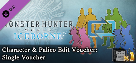 Monster Hunter: World - Character & Palico Edit Voucher: Single Voucher