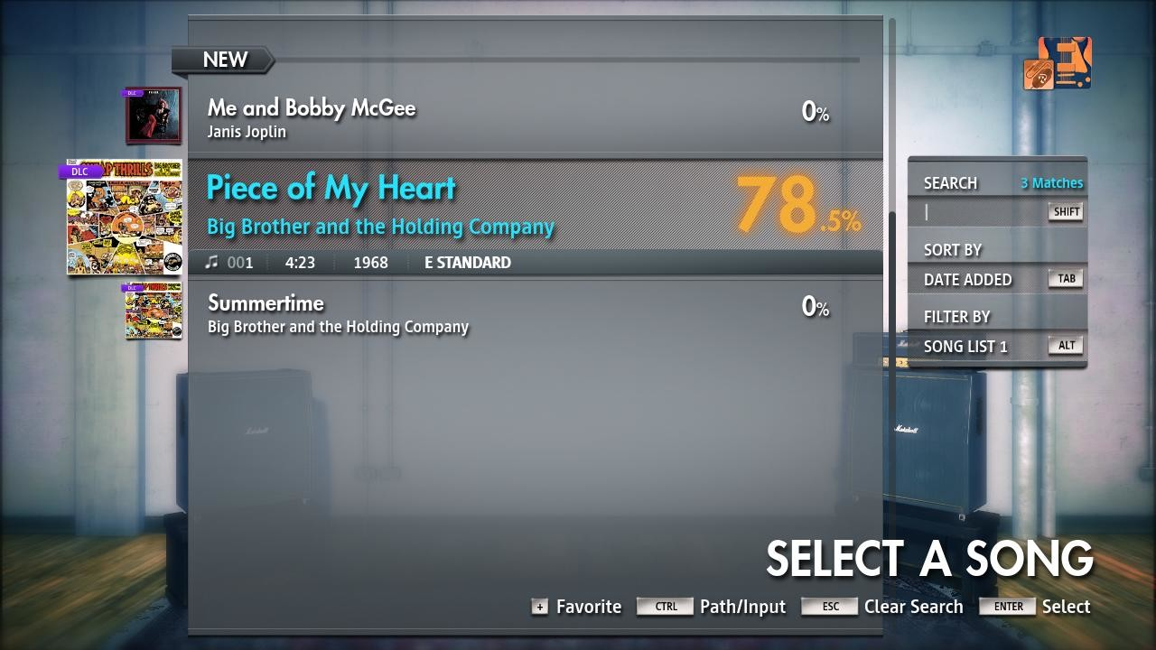 "Rocksmith 2014 Edition – Remastered – Janis Joplin/Big Brother & The Holding Co. - ""Piece of My Heart"" screenshot"