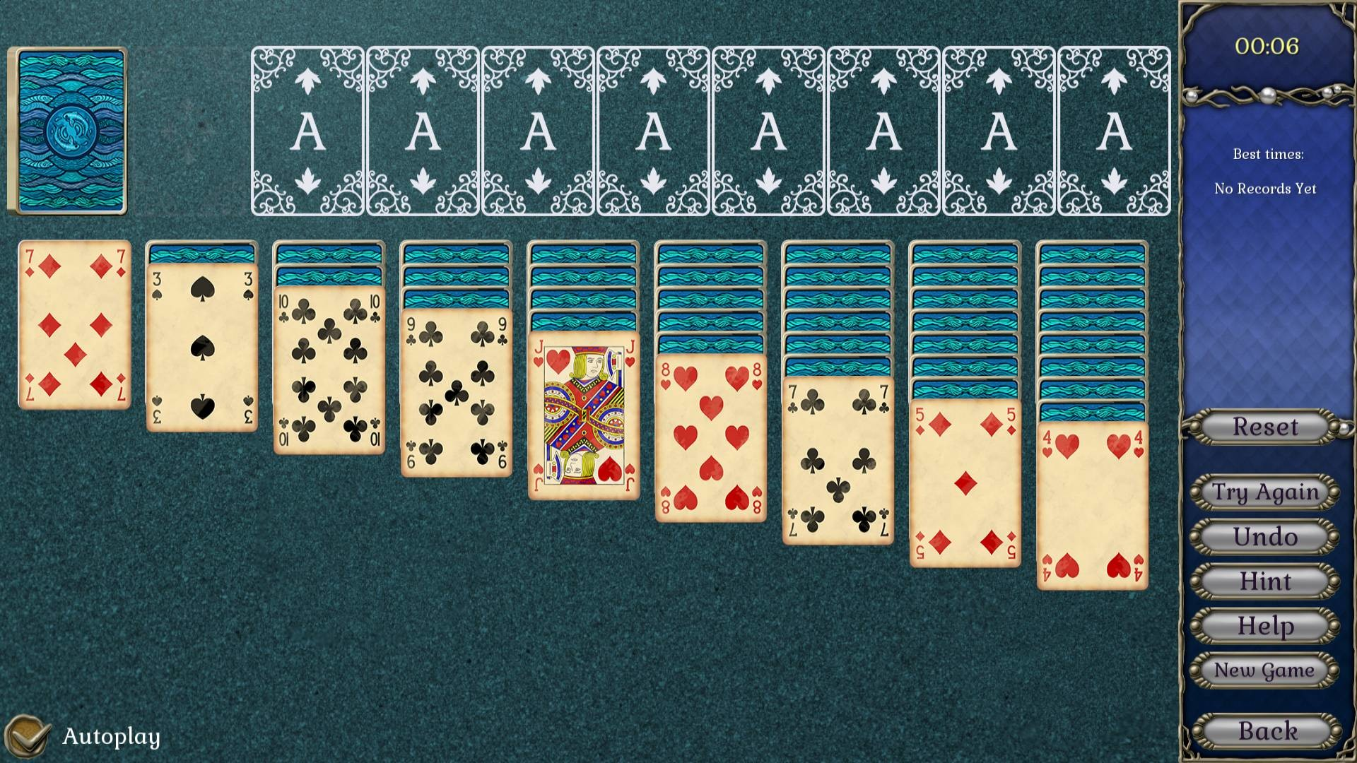 Jewel Match Atlantis Solitaire - Collector's Edition screenshot