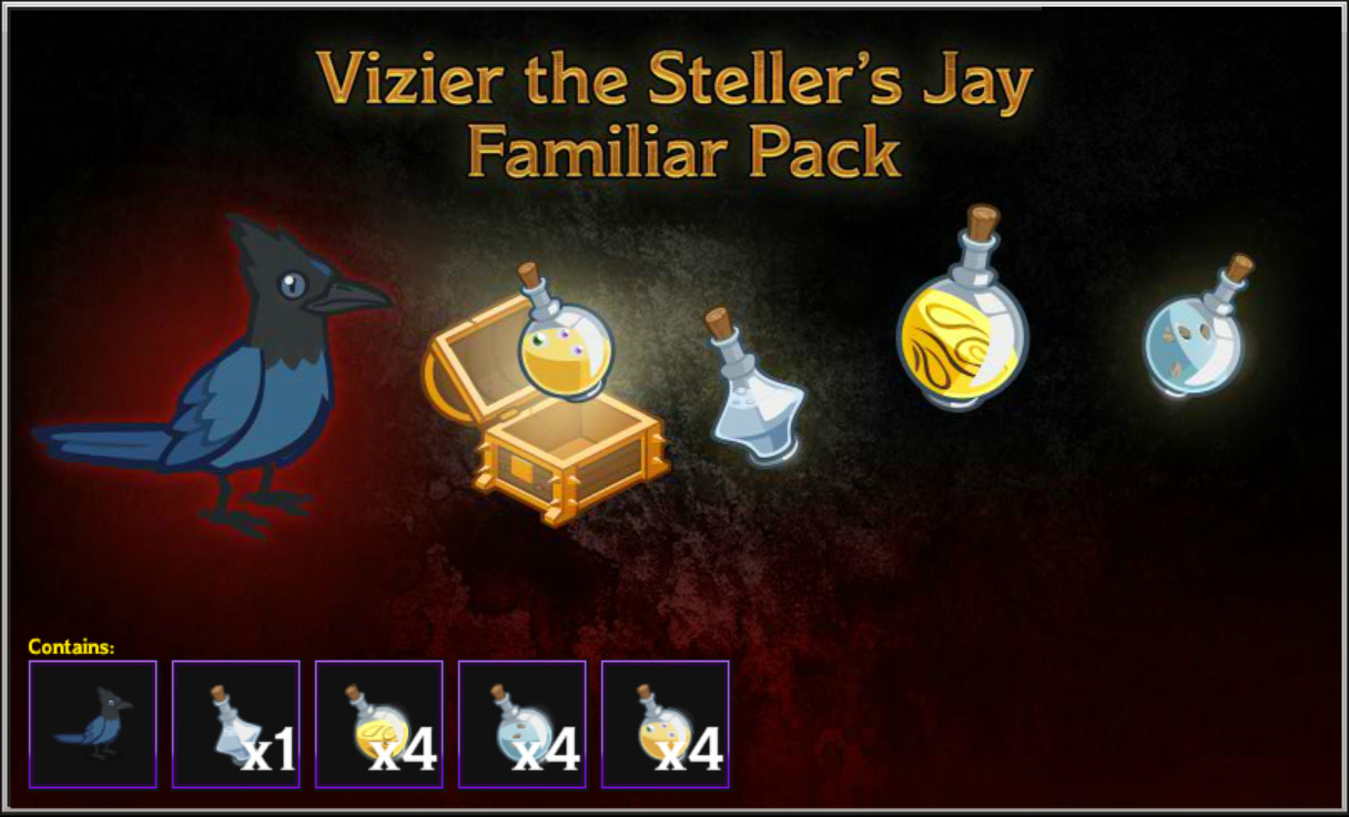 Idle Champions - Vizier the Steller's Jay Familiar Pack screenshot