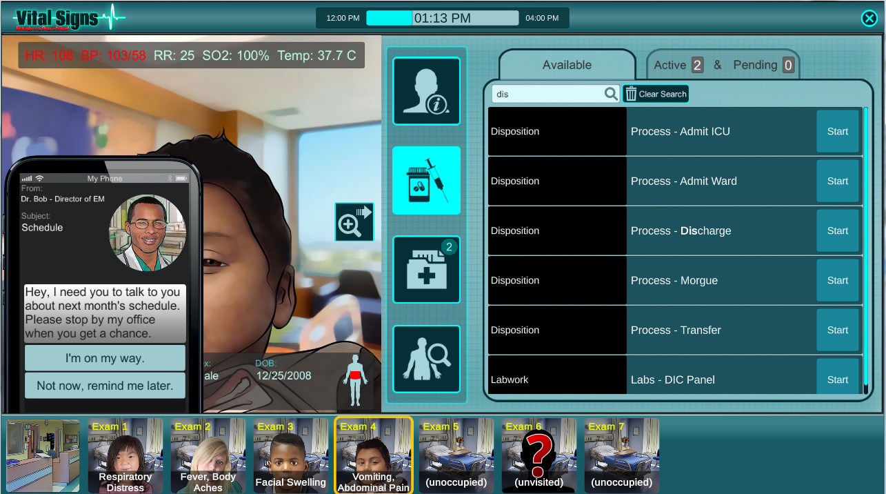 Vital Signs: ED - Pediatric Common Disease Package screenshot