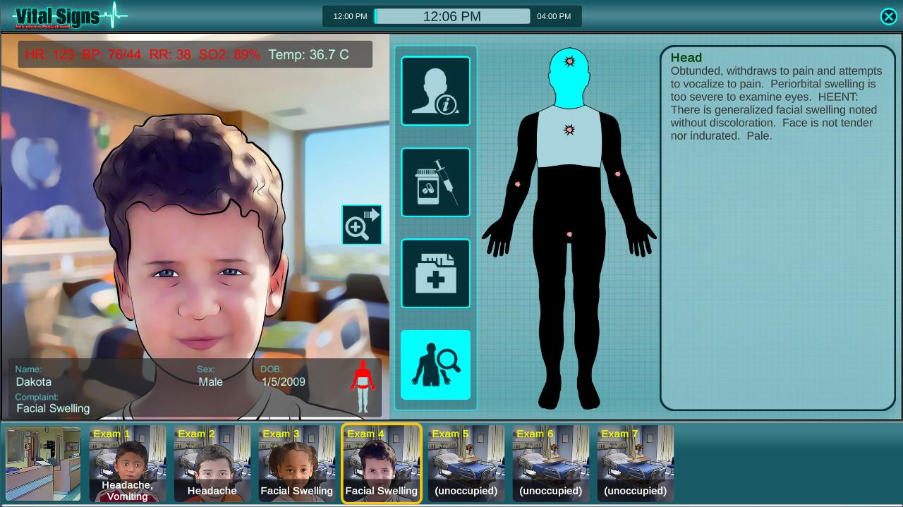Vital Signs: ED - Pediatric Rare Disease Package screenshot