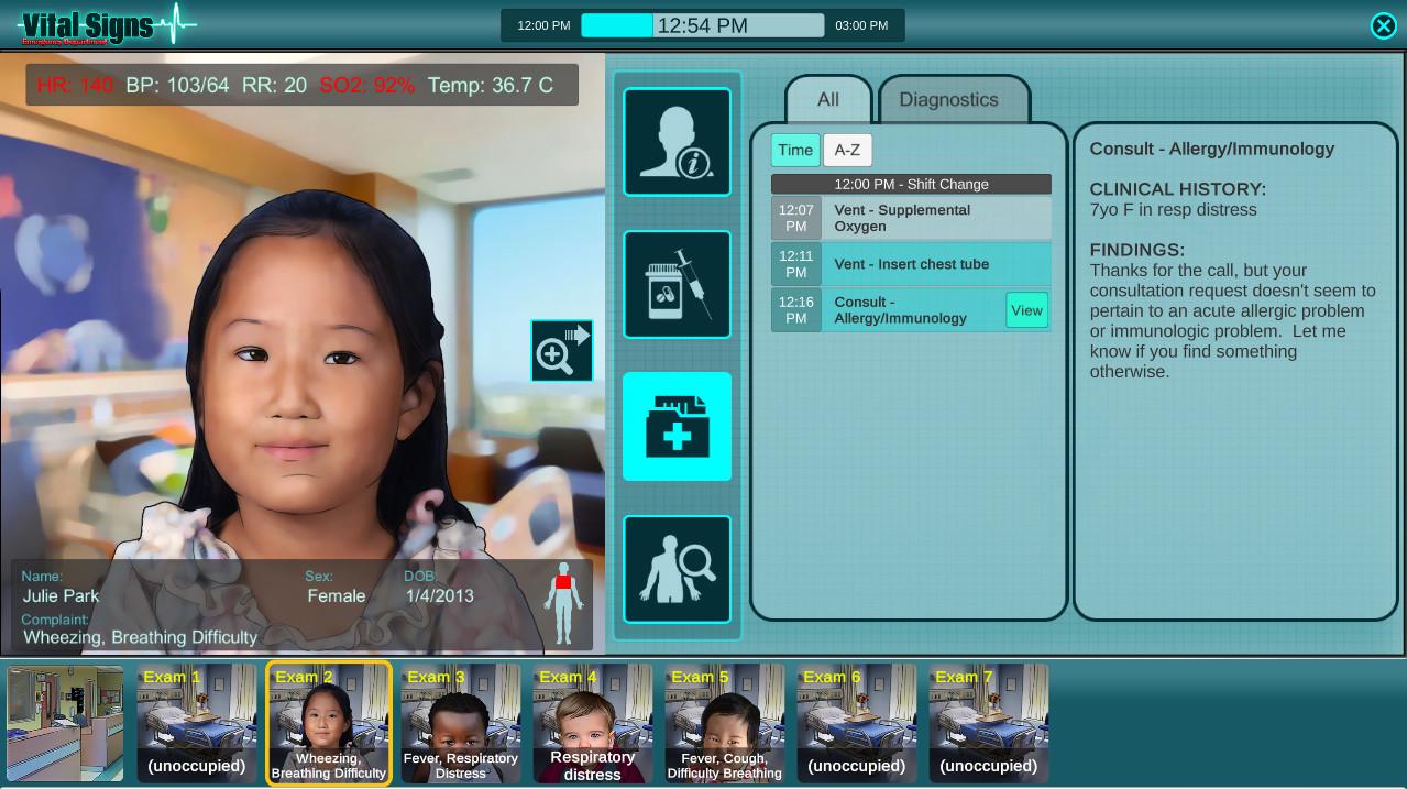 Vital Signs: ED - Pediatric Respiratory Disease Package screenshot
