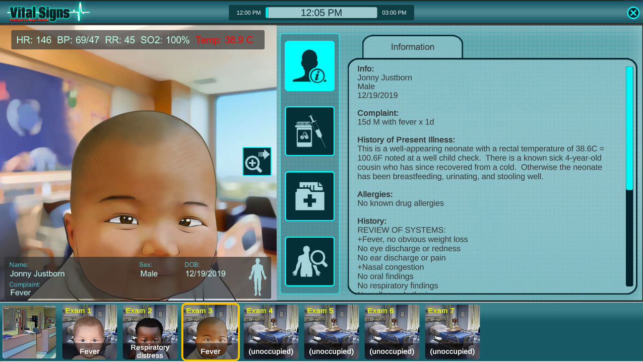 Vital Signs: ED - Pediatric Infant Cases Package screenshot