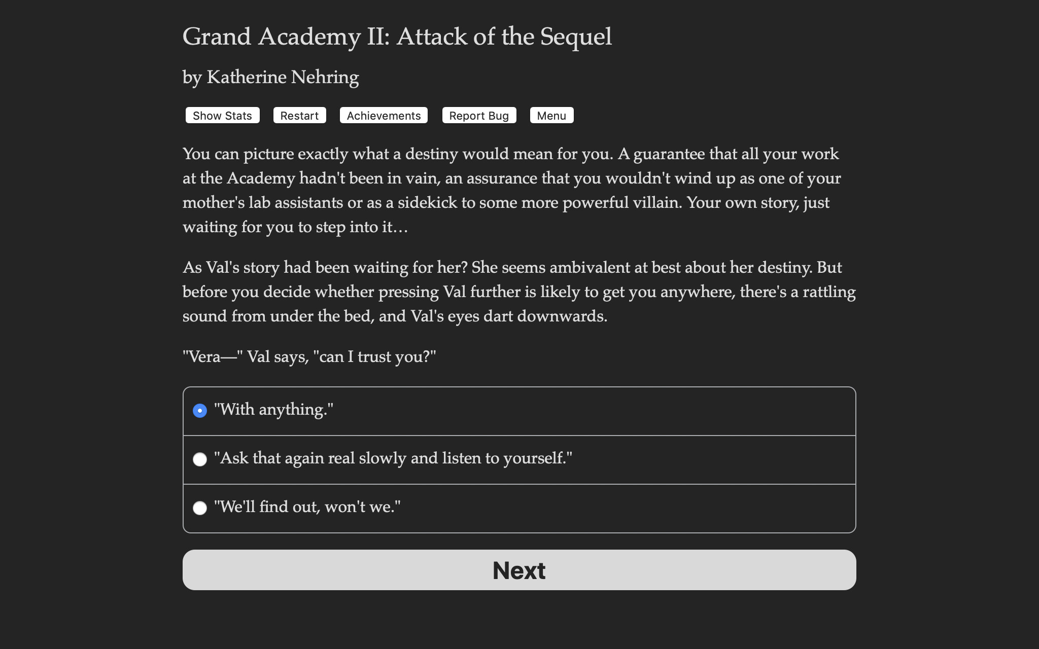 Grand Academy II: Attack of the Sequel screenshot
