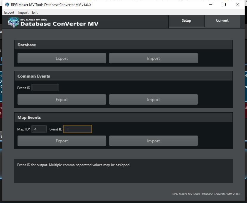 RPG Maker MV Tools - Database ConVerter MV screenshot