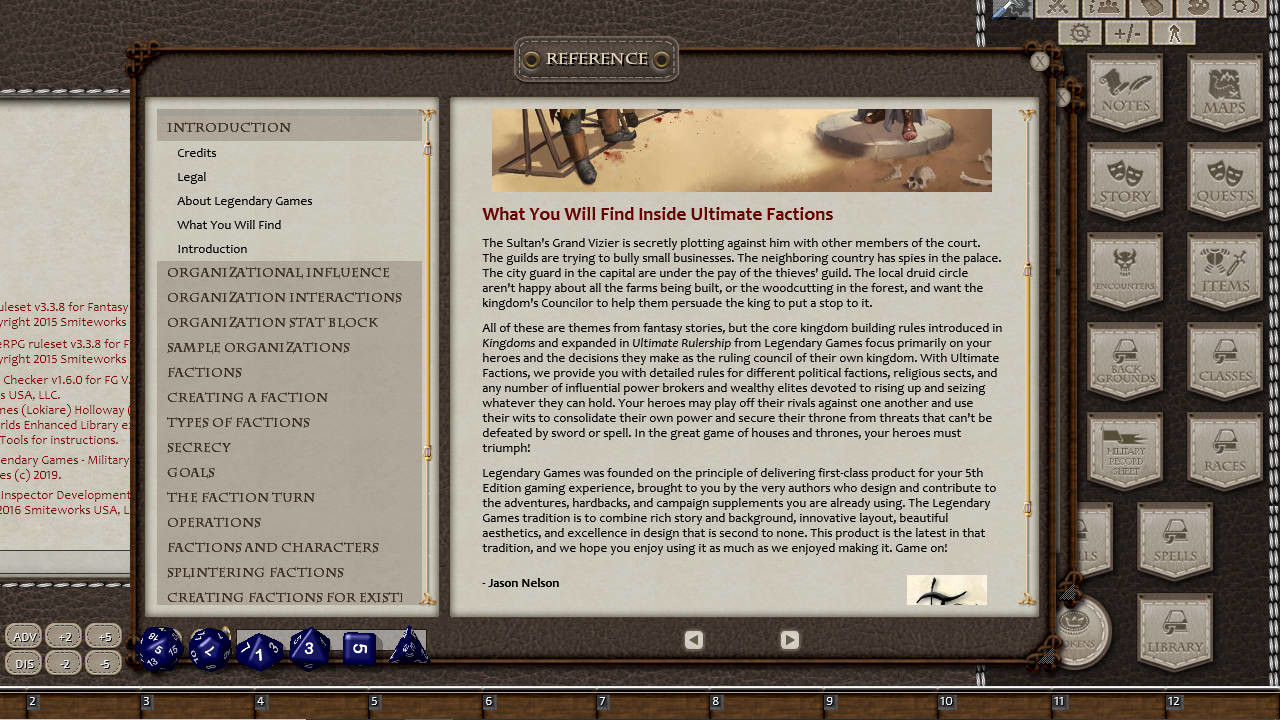 Fantasy Grounds - Ultimate Factions (5E) screenshot
