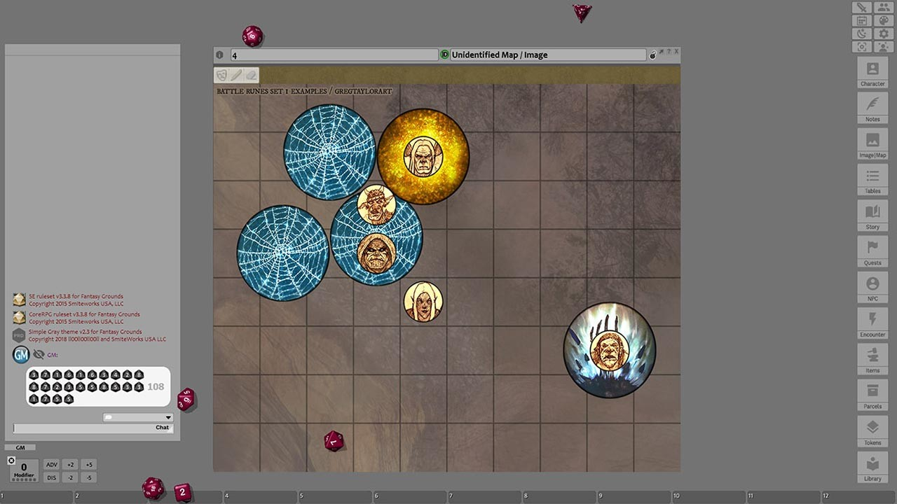 Fantasy Grounds - Battle Runes 1 Spell Effect Tokens (Token Pack) screenshot