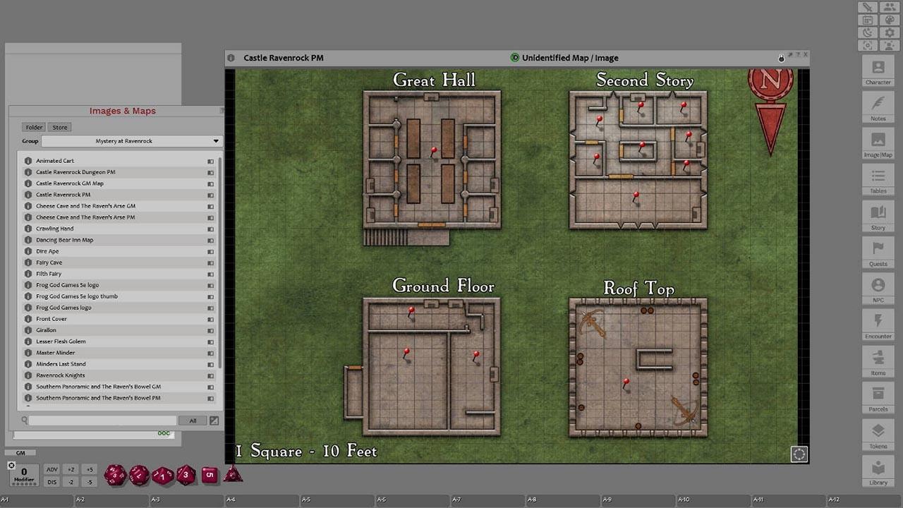 Fantasy Grounds - Mystery at Ravenrock (5E) screenshot