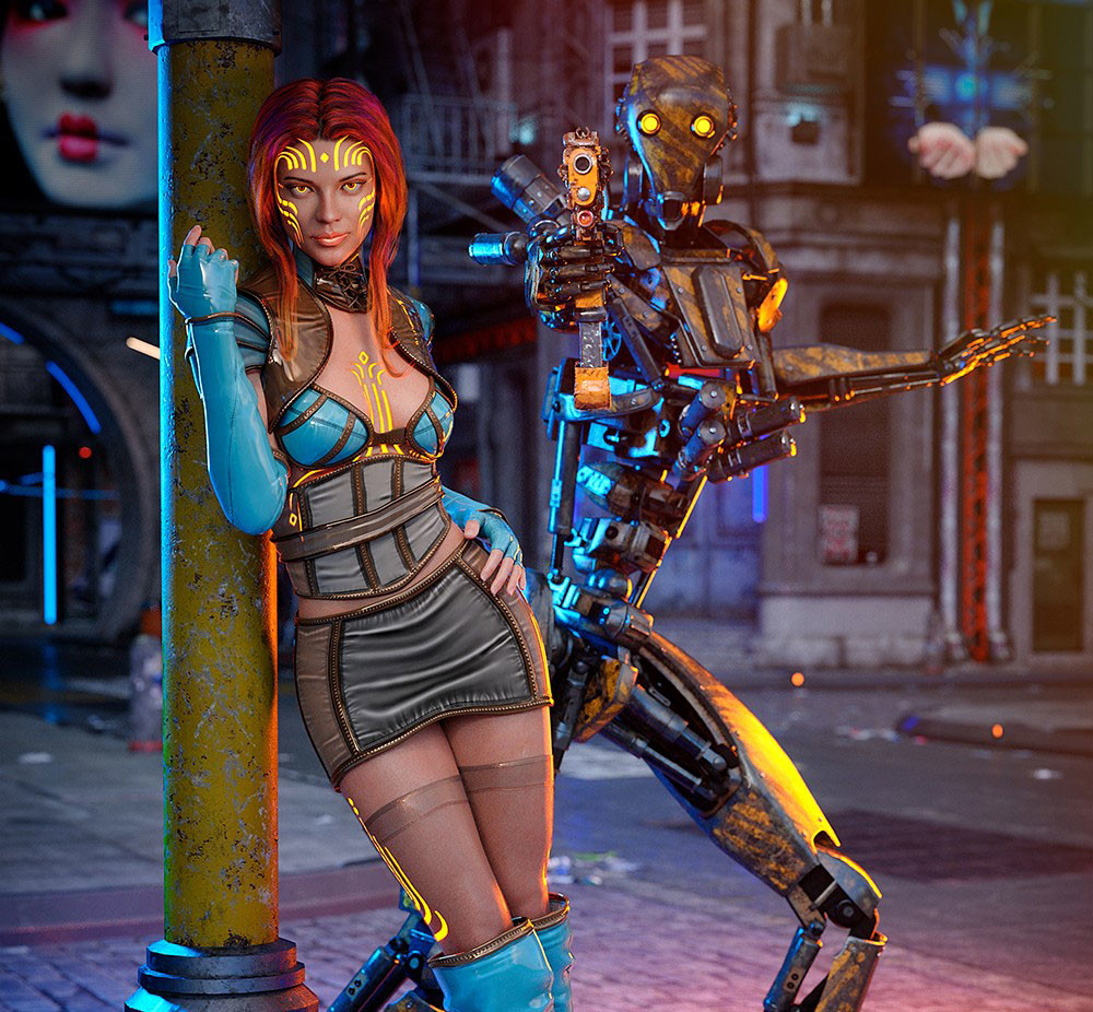 Cyborg for 3D Visual Novel Maker screenshot