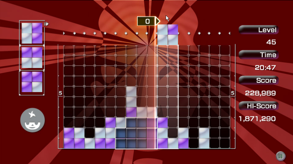 LUMINES screenshot