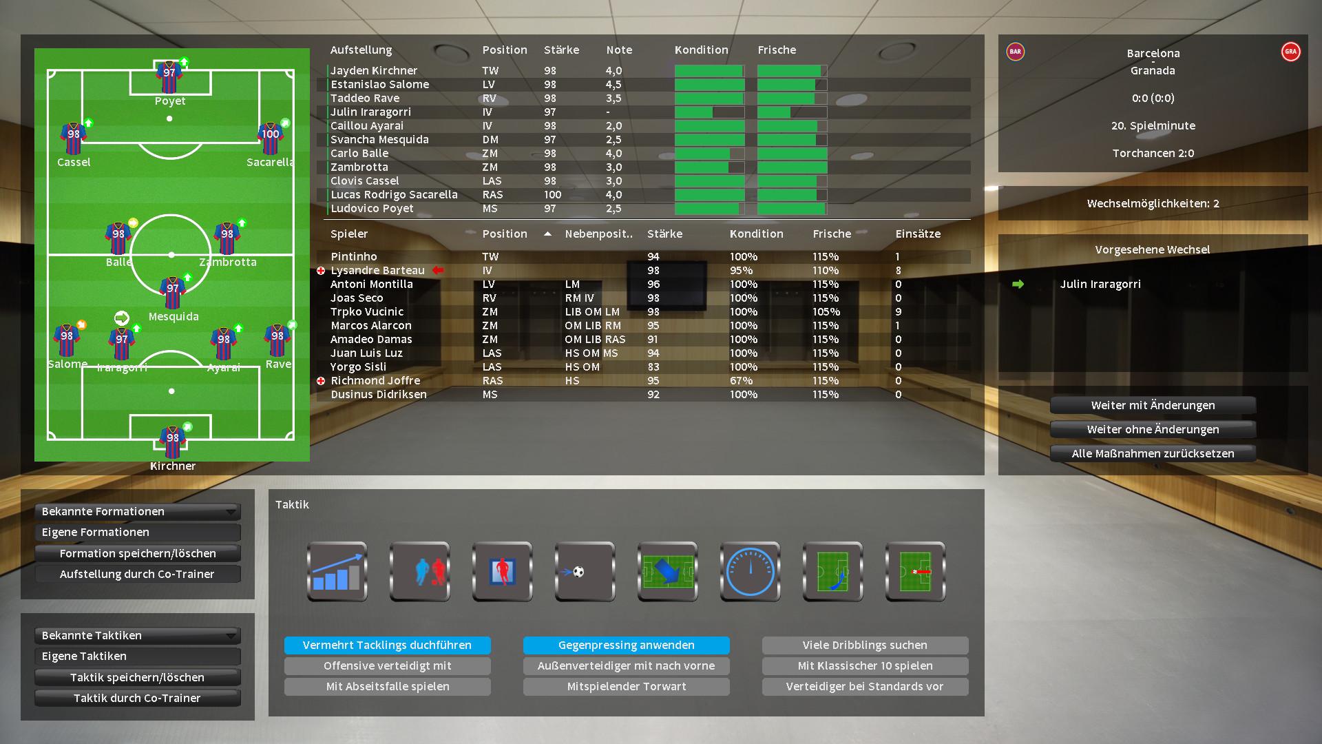 Player's Eleven screenshot