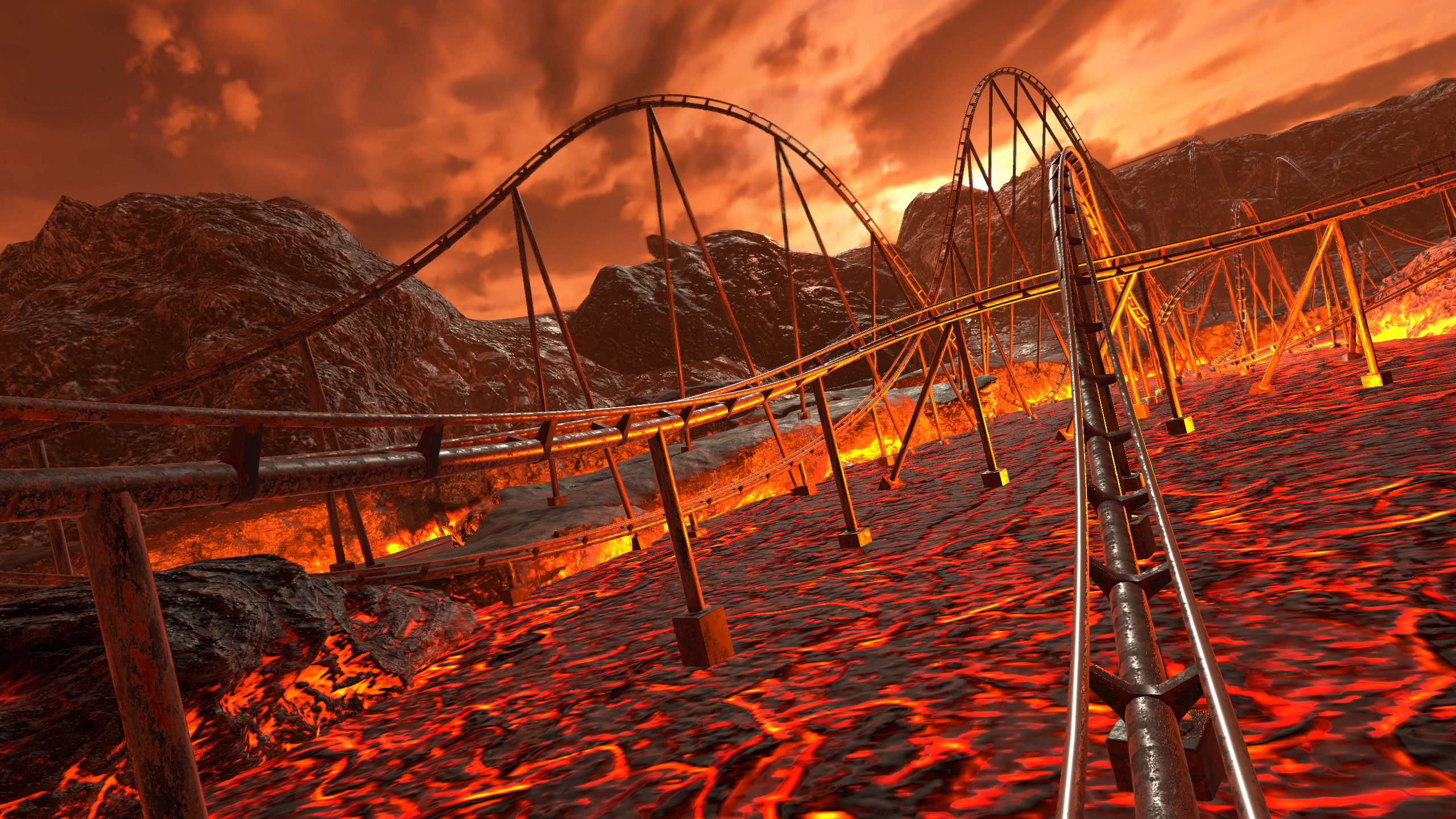 Epic Roller Coasters — Tuwhena Volcano screenshot