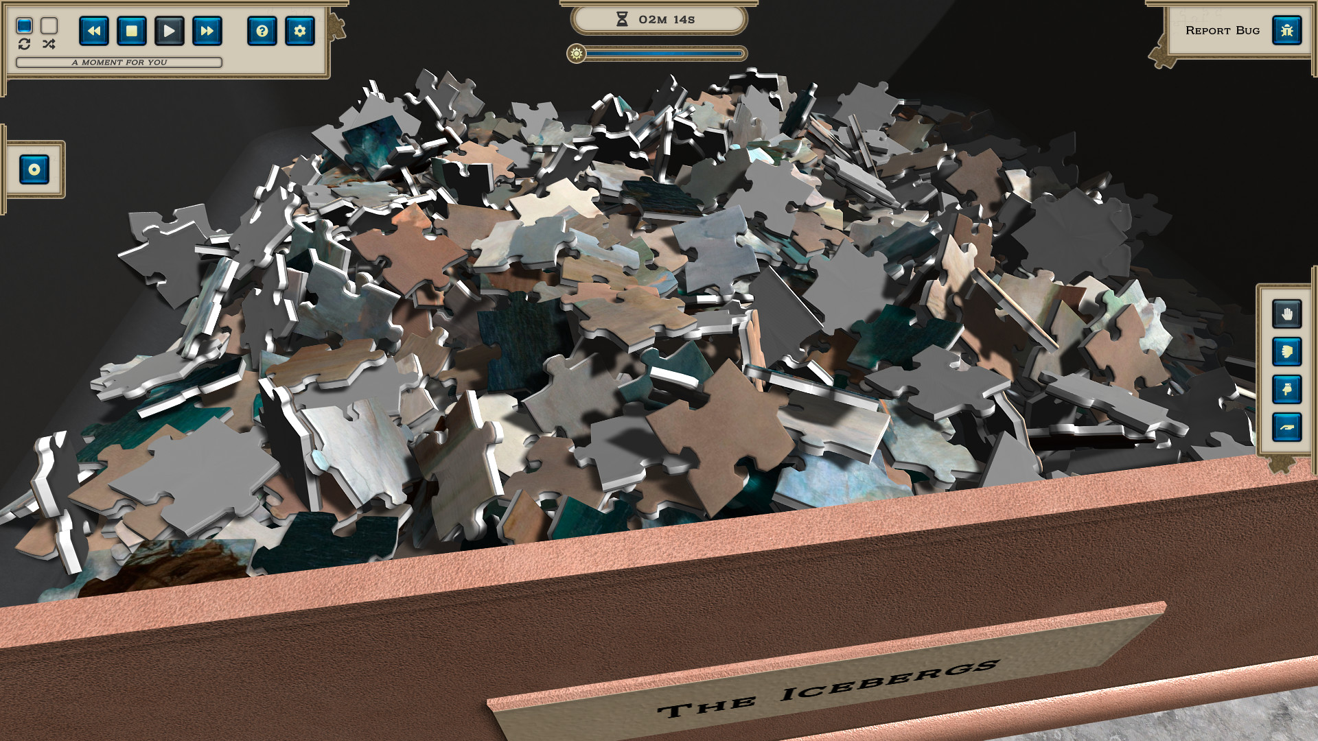 Masters of Puzzle - The Icebergs by F. E. Church screenshot
