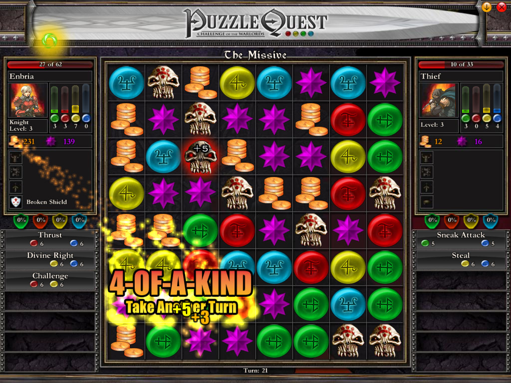 PuzzleQuest: Challenge of the Warlords screenshot
