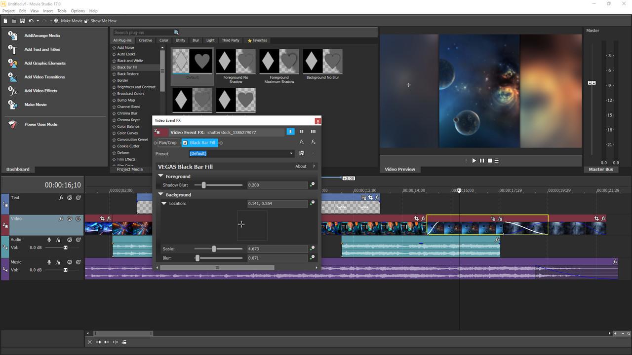 VEGAS Movie Studio 17 Steam Edition screenshot