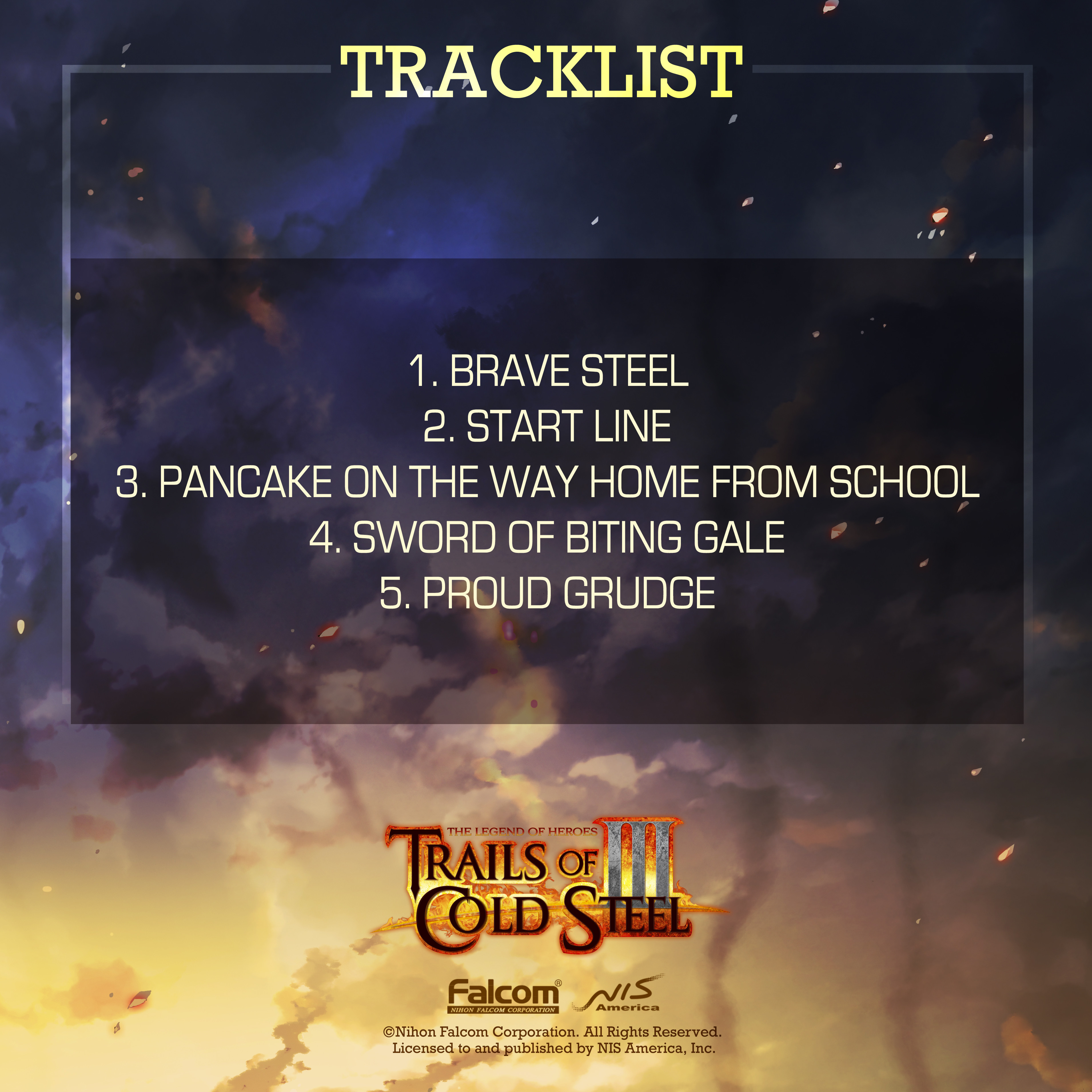 The Legend of Heroes: Trails of Cold Steel III  - Anthems of the Thors Branch Campus Digital Soundtrack Sampler screenshot
