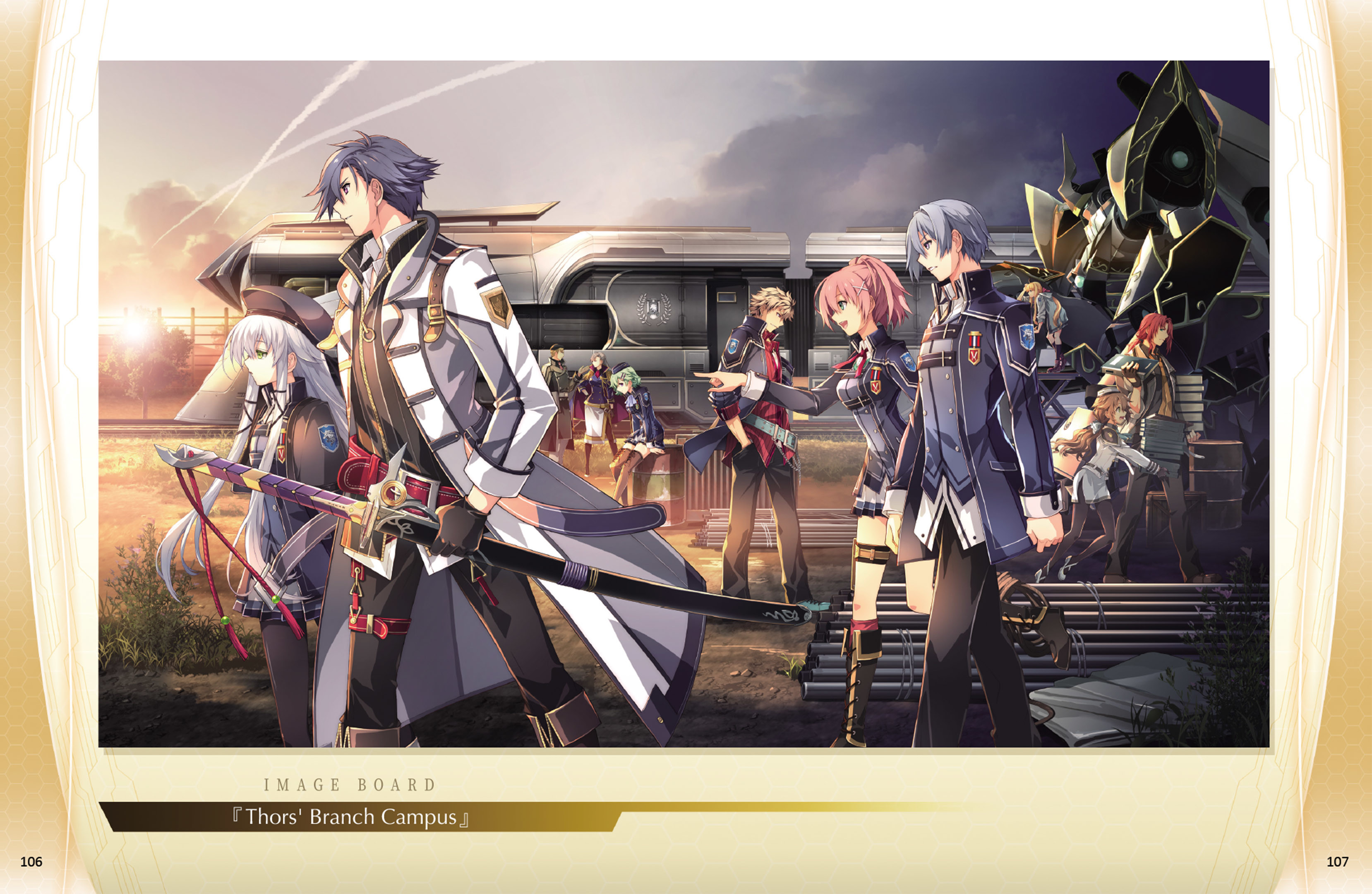 The Legend of Heroes: Trails of Cold Steel III  - Intelligence Division Files Digital Art Book screenshot