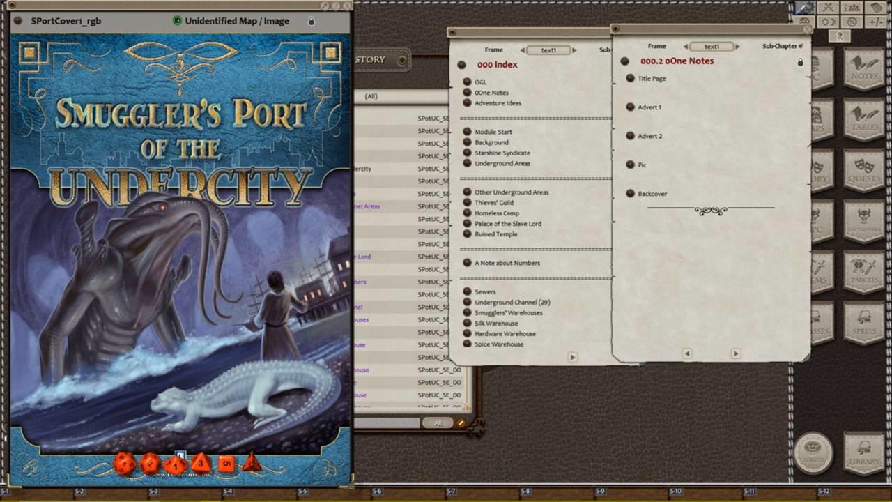 Fantasy Grounds - Smuggler's Port of the Undercity screenshot