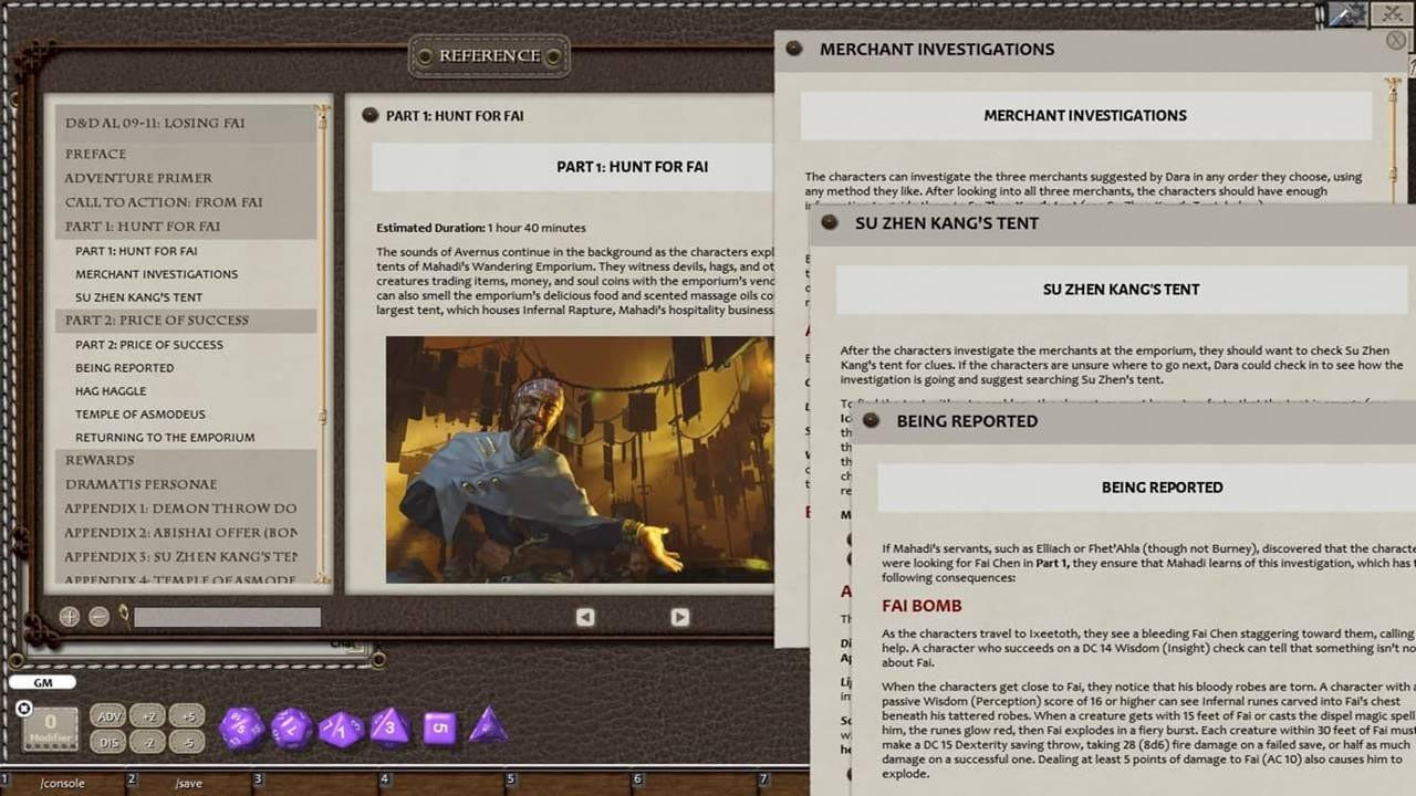 Fantasy Grounds - D&D Adventurers League DDAL09-11 Losing Fai screenshot