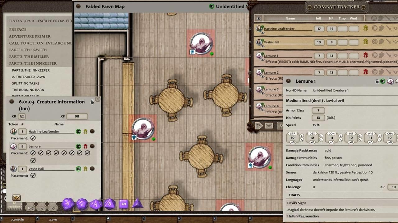 Fantasy Grounds - D&D Adventurers League 09-01 Escape From Elturgard screenshot