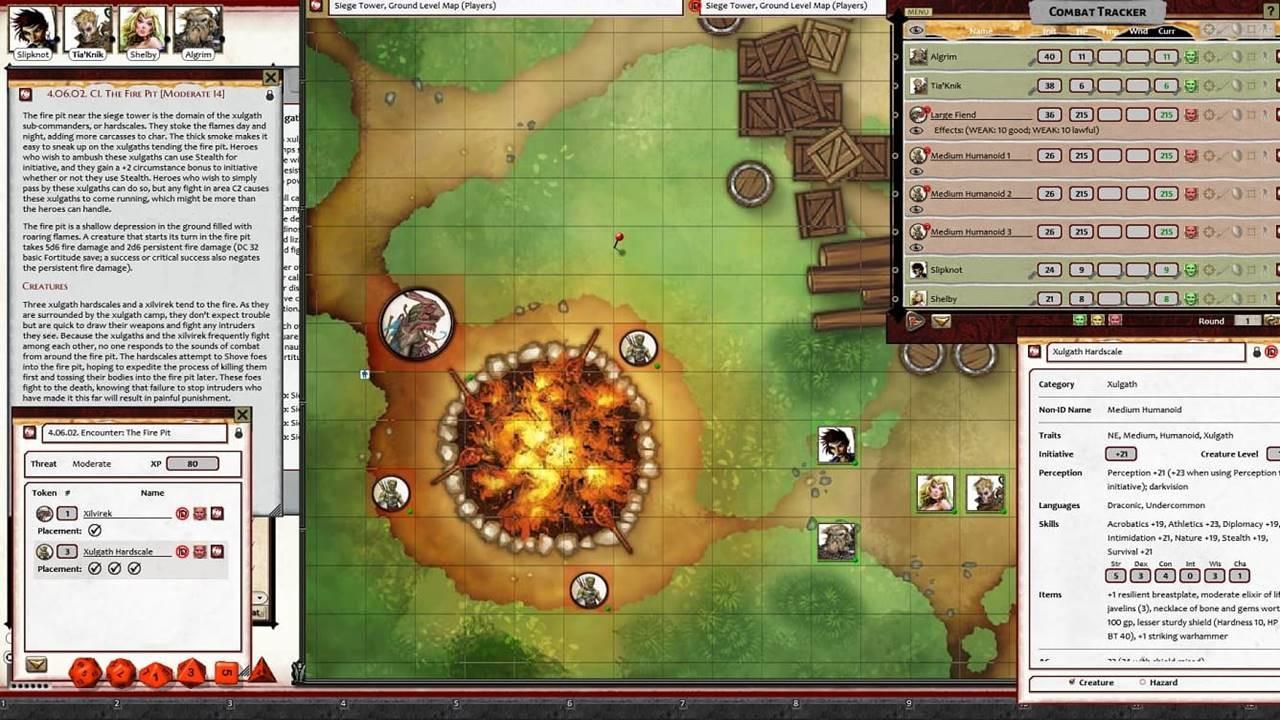 Fantasy Grounds - Pathfinder 2 RPG - Extinction Curse AP 4: Siege of the Dinosaurs screenshot