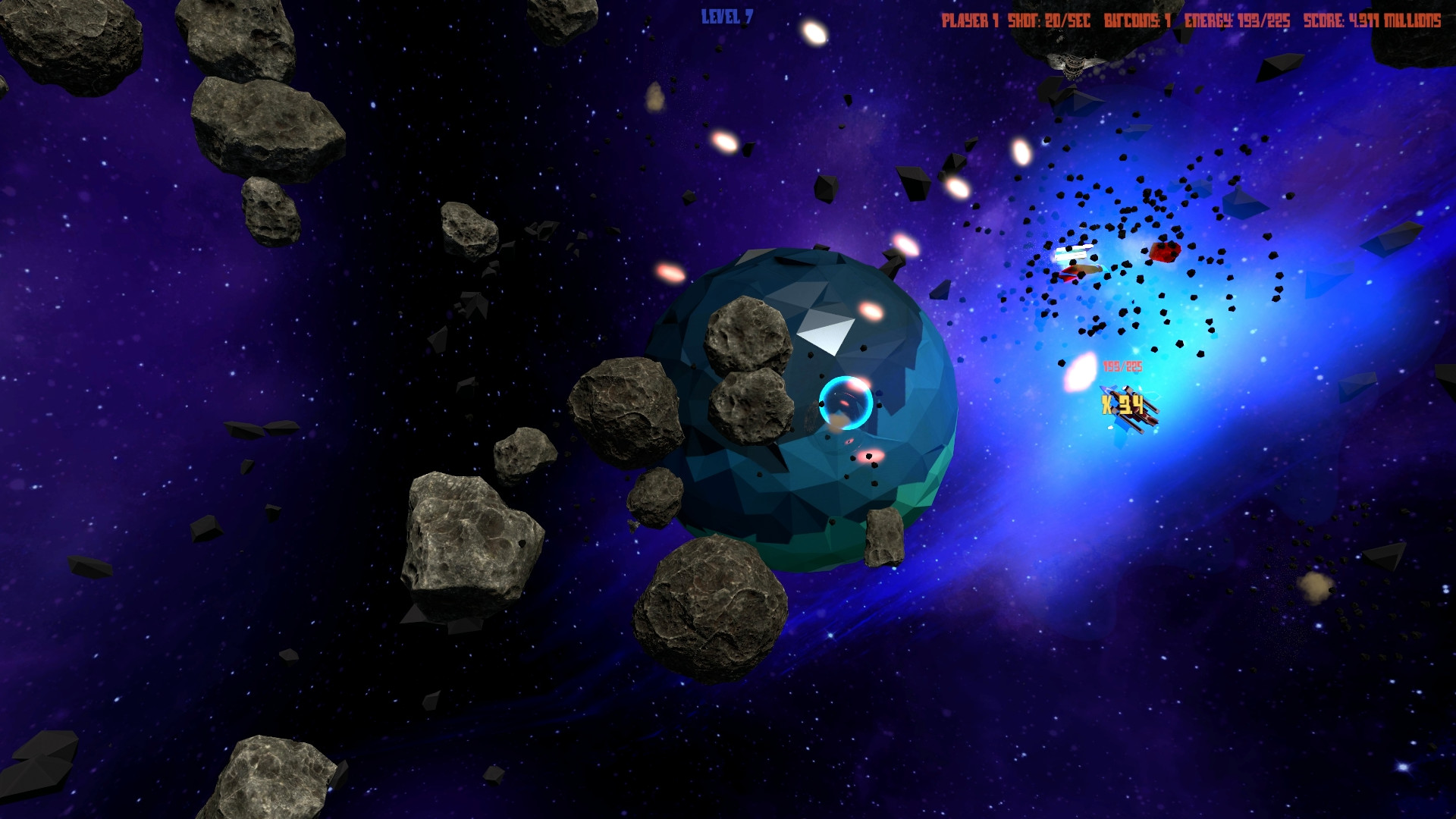 Asteroids 44 (For Four) screenshot