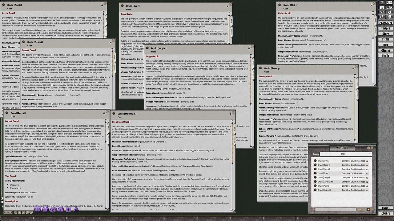 Fantasy Grounds - D&D Classics: Complete Druid's Handbook screenshot