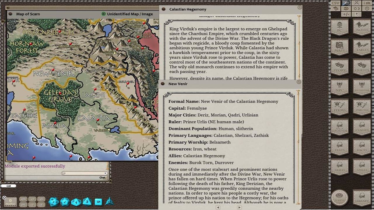 Fantasy Grounds - Scarred Lands Player's Guide screenshot