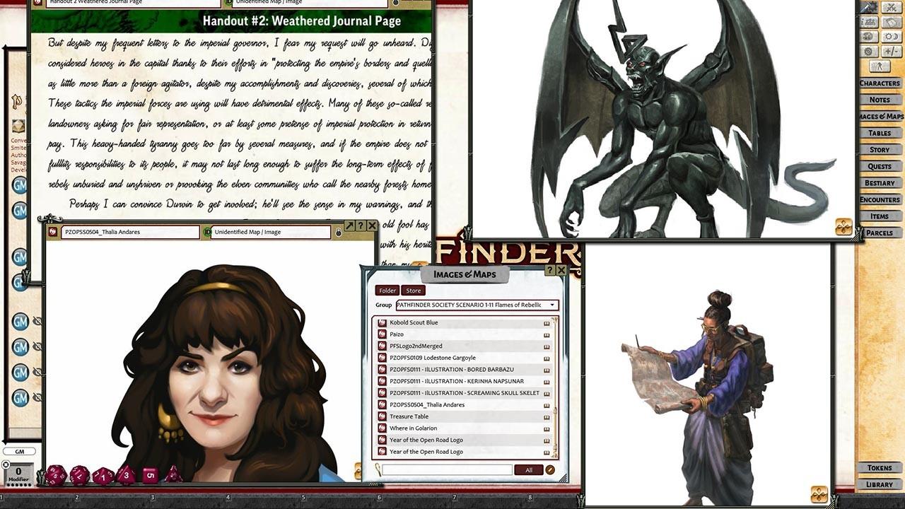 Fantasy Grounds - Pathfinder RPG - Pathfinder Society Scenario #1-11: Flames of Rebellion screenshot
