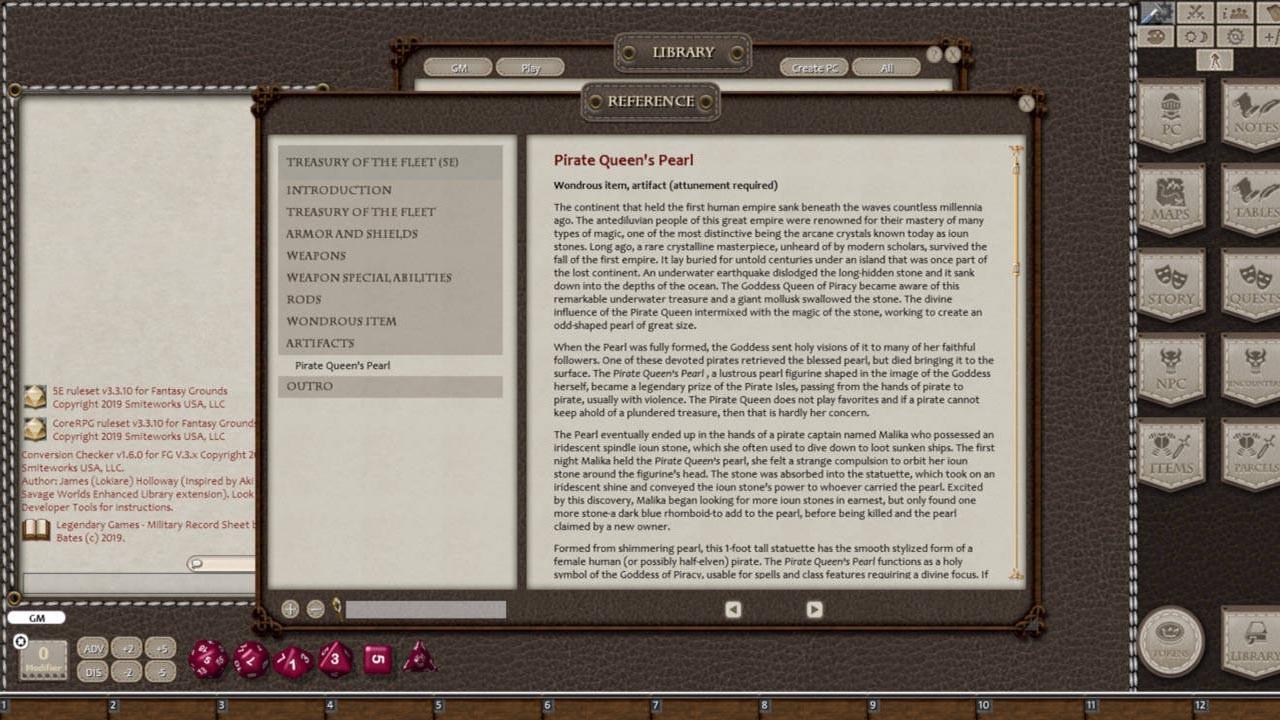Fantasy Grounds - Treasury of the Fleet screenshot