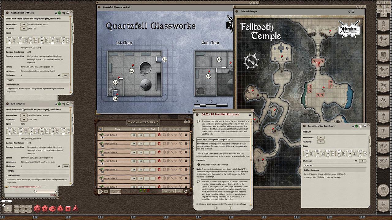 Fantasy Grounds - U01: Dark Days in Stoneholme screenshot