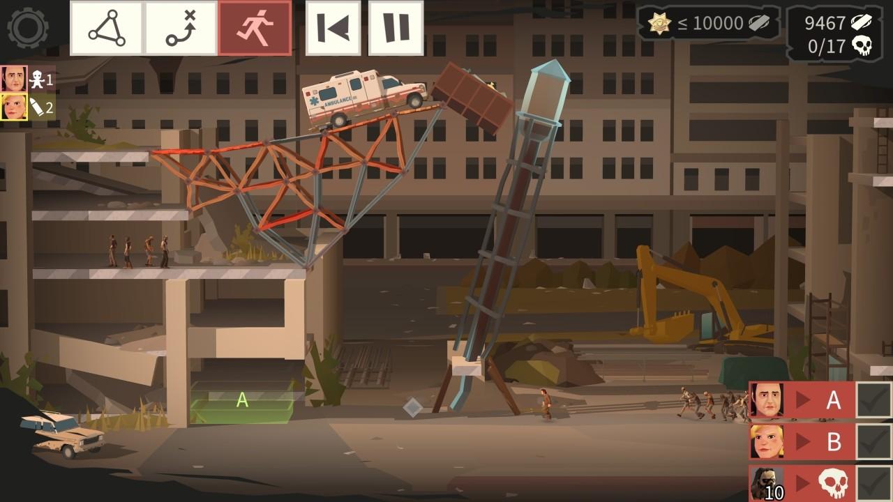 Bridge Constructor: The Walking Dead screenshot
