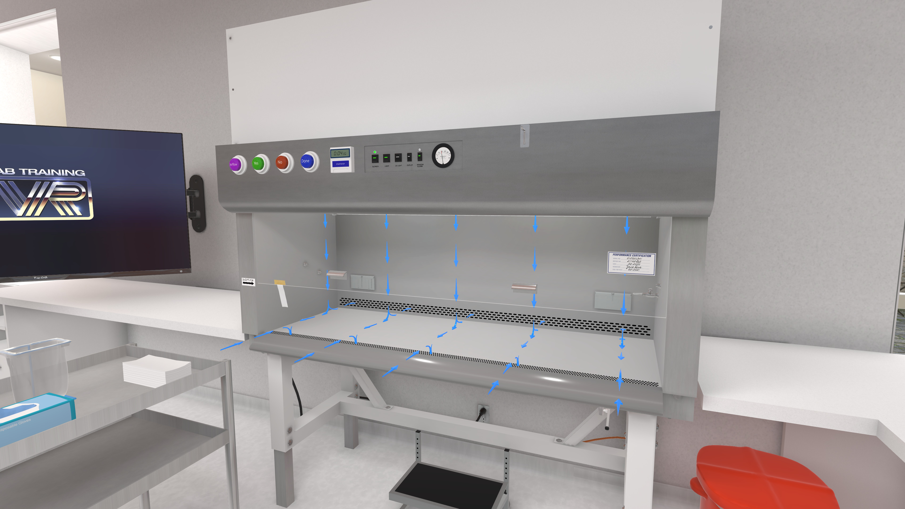 LabTrainingVR: Biosafety Cabinet Edition screenshot