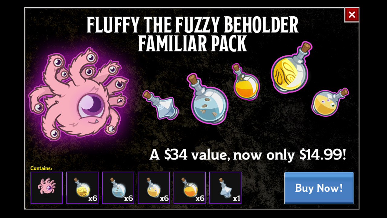 Idle Champions - Fluffy the Fuzzy Beholder Familiar Pack screenshot